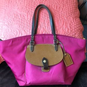 Pink Nylon Dooney & Bourke Purse